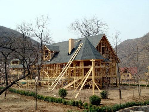 防腐木结构木屋