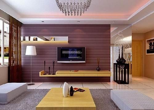 防腐木装修客厅背景墙